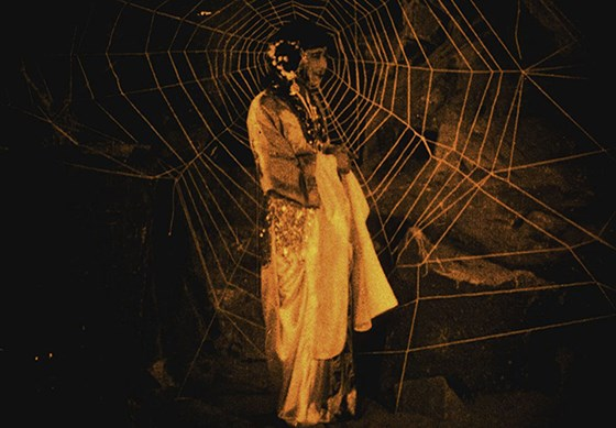 """The rare 1927 Chinese film, """"Cave of the Spider Women"""" (""""Pan Si Dong""""), screens Friday at the 20th San Francisco Silent Film Festival, May 28-June1, 2015.  This was the first Chinese film to screen in Scandinavia (Oslo 1929) and it was discovered in 2001 in archives of the National Library of Norway.  Special guest film archivist, Tina Anckarman from the National Library of Norway, will speak about its history and restoration.  Donald Sosin and Frank Bockius will pride live musical accompaniment. The engaging story revolves around a pilgrim monk who has been entrusted by an emperor to find some sacred Buddhist texts and he ends up trapped in the Cave of the Seven Spiders, who want to eat his flesh to become immortal.  The San Francisco Silent Film Society paid for new intertitles.   Image:  SFSFS"""