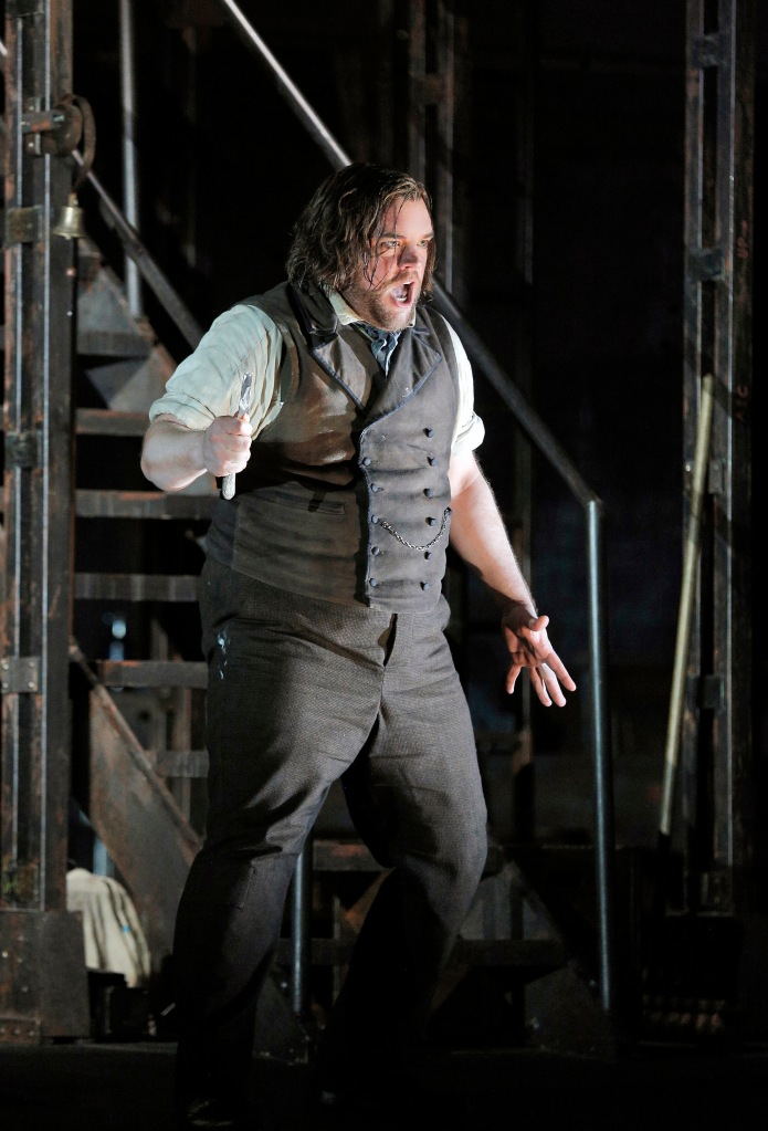 "Baritone Brian Mulligan is Benjamin Barker/Sweeney Todd in Sondheim's ""Sweeney Todd"" at San Francisco Opera through September 29, 2015. He has escaped from wrongful imprisonment and returns to London, full of anguish and rage, to exact revenge on the vile Judge Turpin who sent him away on trumped up charges and destroyed his beloved family. The musical is big and bold and artfully combines the macabre with tender romance and laugh-out-loud humor. Photo: Cory Weaver, SFO"