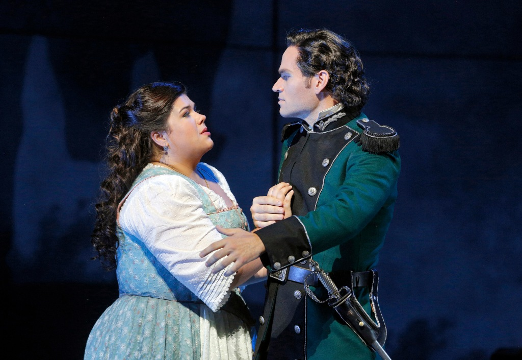 "Verdi's ""Luisa Miller"" opened San Francisco Opera's 2015-16 season. The opera pairs soprano Leah Crocetto and tenor Michael Fabiano as doomed lovers Luisa, a miller's daughter, and Rodolfo, the son of the local count. Photo: Cory Weaver, SFO"
