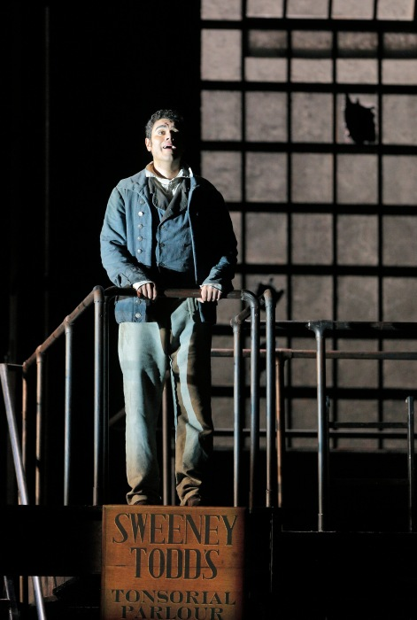 "Canadian Baritone Elliot Madore, winner of the Metropolitan Opera National Council Auditions, and makes his SFO debut as Anthony Hope, who sails into London with Benjamin Barker and falls in love with his daughter Johanna (Heidi Stober) who has became a ward of the evil Judge Turpin (Wayne Tiggs). Madore's lyrical ""Johanna"" earned him an ovation at the September 20 matinee. Photo: Cory Weaver, SFO"