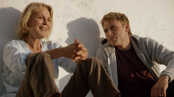 """Crafted from events in his mother's life, Swiss filmmaker Barbet Schroeder's """"Amnesia"""" stars German icon Marthe Keller as a German expat hiding out in idyllic Ibizia whose cage is rattled by a young German man who is her new neighbor and it's not just because he falls in love with her. Image: MVFF"""
