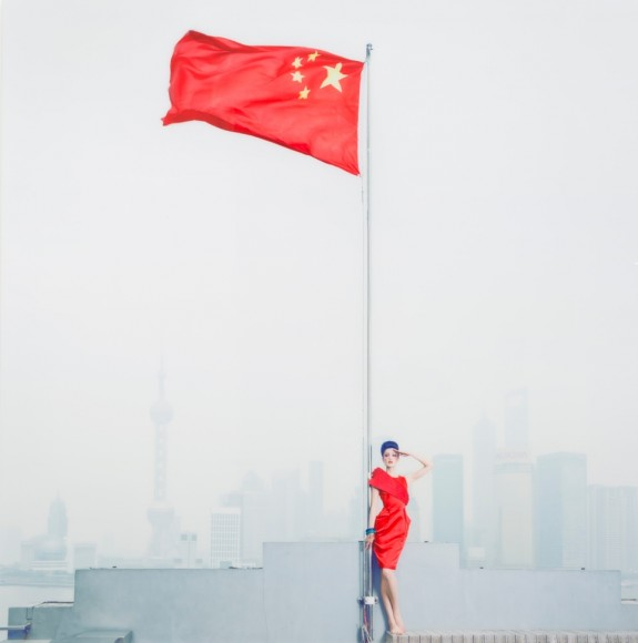 """Chen Man """"Long Live the Motherland, Shanghai No. 1, 2010. Beijing-born Chen Man's career in photography and as artist took off with a bang when, in the early 2000's, she produced a series of sleek images that were unique amongst Chinese magazine covers, capturing the culture's fascination busting out of the Chinese straightjacket and into the brave new world. Shooting style, beauty and fashion for magazines like Harper's Bazar and Vogue, she has created a visual language that heralded a visual revolution. Image: courtesy AAM"""