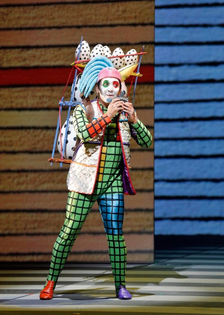 """Mexican-American baritone and second year Adler Fellow Efraín Solís is Papageno, the cowardly but good-natured birdcatcher in """"The Magic Flute."""" Photo: ©Cory Weaver/San Francisco Opera"""