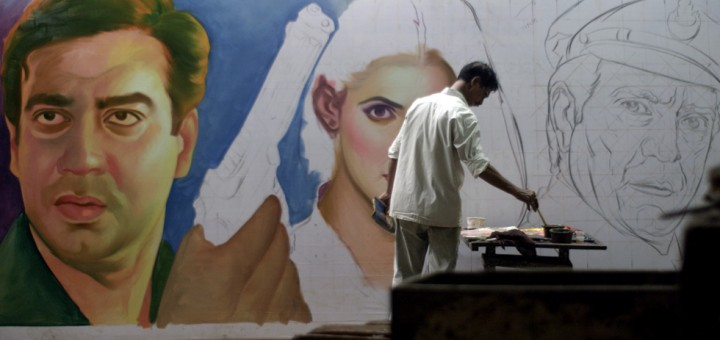 """Mumbai artist Sheikh Rehman is literally the last artist in Mumbai who is still painting movie banners by hand. And what colors and action they employ. Rehmen is the subject of German filmmakers Florian Heinzen-Ziob & Georg Heinzen's documentary """"Original Copy"""" (2015) which is a love letter to a lost art and a man lost in art."""