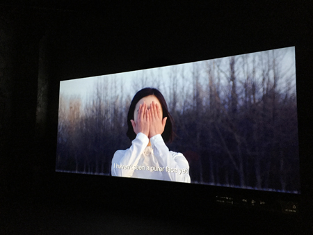 "A scene from Korean artist Im Heung-soon's feature-length documentary, ""Factory Complex,"" winner of the Silver Lion at the 56th Venice Biennale (May 9 – November 22, 2015). This is highest accolade ever received by a Korean artist at the exhibition which dates back to 1895. Using interviews and historical footage, the engrossing film documents the appalling conditions experienced by female workers in South Korea during the country's industrial boom from the 1960-80's and the retaliation they faced when they attempted to organize. Hardships still exist today, especially for those in the services industry such as flight attendants and call center operators, which the film documents. And, like a disease, the exploitation has spread─Korean conglomerates have outsourced even cheaper labor, so the conditions previously faced by Korean women are now a reality for those in South East Asia. Accolades to Mr. Im for bringing the truth to light."