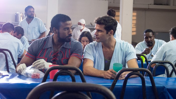 Yotuel Romero and Armando Miguel Gómez in a scene from Pavel Giroud Eirea's El Acompañante (The Companion) (2015), which won the Coral for Best Screenplay.