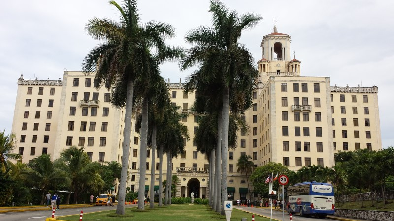 The historic Hotel Nacional de Cuba is the festival's main host hotel. Built in 1930, the five-star Vedado hotel is situated on a hill just a few meters from the sea and its guests have included Winston Churchill, Frank Sinatra, Ava Gardner. Photo: Geneva Anderson