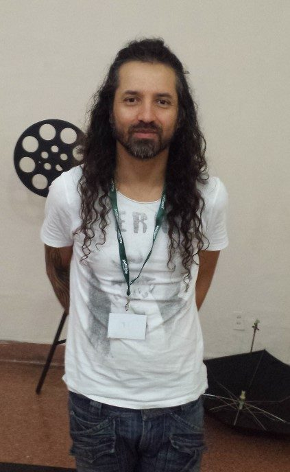 """Columbian director, Klych López at the screening of """"Siempreviva"""" (2015) which addresses the siege of Columbia's Palace of Justice thirty years ago."""