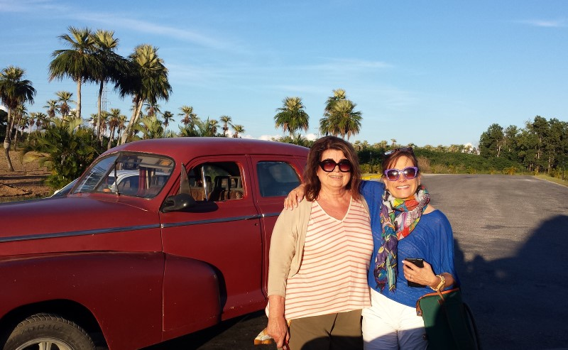 There's no better way to see the Cuban country side than hitting the road in an old Chevy with knowledgeable and lively traveling companions. Sonoma International Film Festival programmer Claudia Mendoza-Carruth (R), originally from Columbia, eased Spanish language concerns and introduced me to the world of Latin cinema while Sacramento lobbyist Noreen Blondien (L) was enthusiastic about business opportunities and discovering Cuban wines. Photo: Geneva Anderson