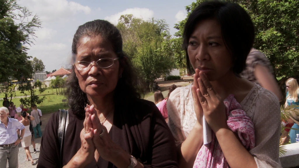 "The Killing Fields of Cambodoia's Khmer Rouge continue to haunt after 40 years. How does society heal? As the Khmer Rouge tribunal collects testimonies from aging war criminals and survivors alike, Michael Siv travels to Cambodia with survivors to film ""Daze of Justice,"" which has its world premiere at CAAMFest 2016. Photo: CAAM"
