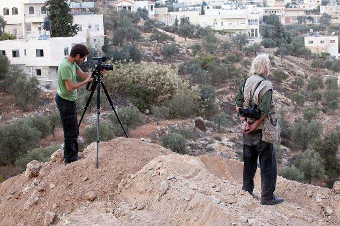 Gilad Baram and Josef Koudelka in Israel/Palestine, © Gilad Baram.