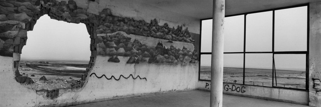 Josef Koudelka, A crusader map mural, Kalya Junction, Near the Dead Sea, 2009 © Josef Koudelka/Magnum Photos