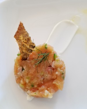 For Taste of Petaluma, The Shuckery will offer Ceviche Misto─ rockfish, shrimp, bay scallop, piquillo pepper coulis, citrus, and cilantro on a white corn tortilla. The Shuckery is at 100 Washnigton Street