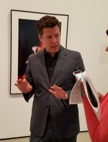 "Phillip Kaiser, guest curator, of The Broad's first special exhibit, ""Cindy Sherman: Imitation of Life."" Photo: Geneva Anderson"