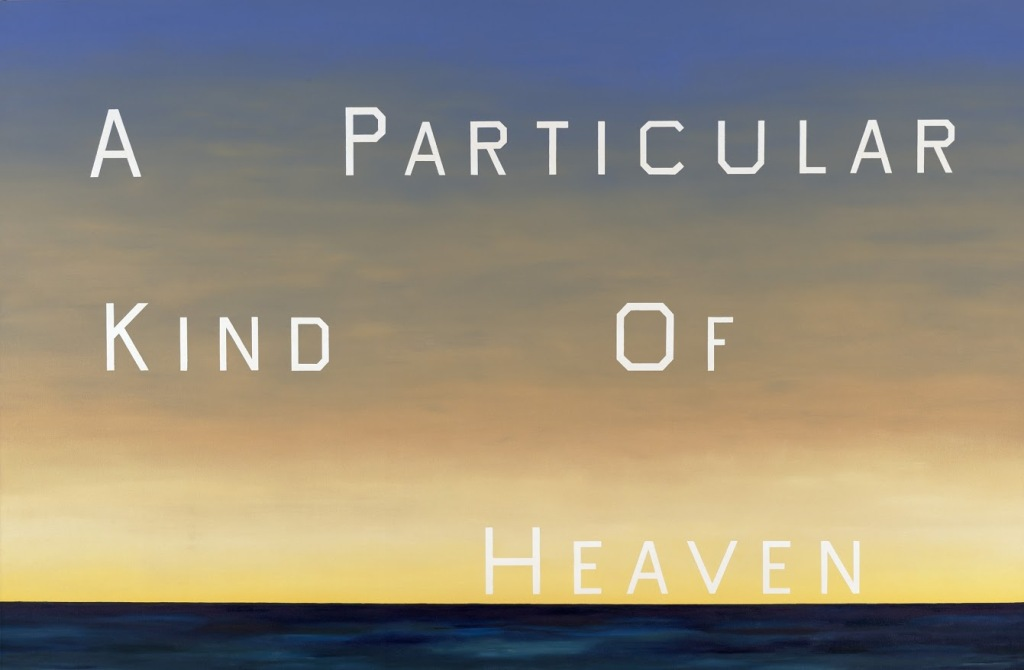 """Ed Ruscha, """"A Particular Kind of Heaven,"""" 1983. Oil on canvas, 90 x 136 1/2 inches. FAMSF © Ed Ruscha."""