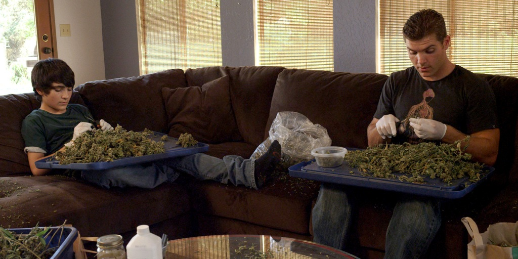 """Jimmy Baxter (L) and Ryan Baxter (R) in a scene from Ryan Baxter's """"Green is Gold."""""""
