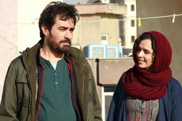 "Shahab Hosseini (L) and Taraneh Alidoosti in a scene from Ashgar Farhadi's ""The Salesman."""